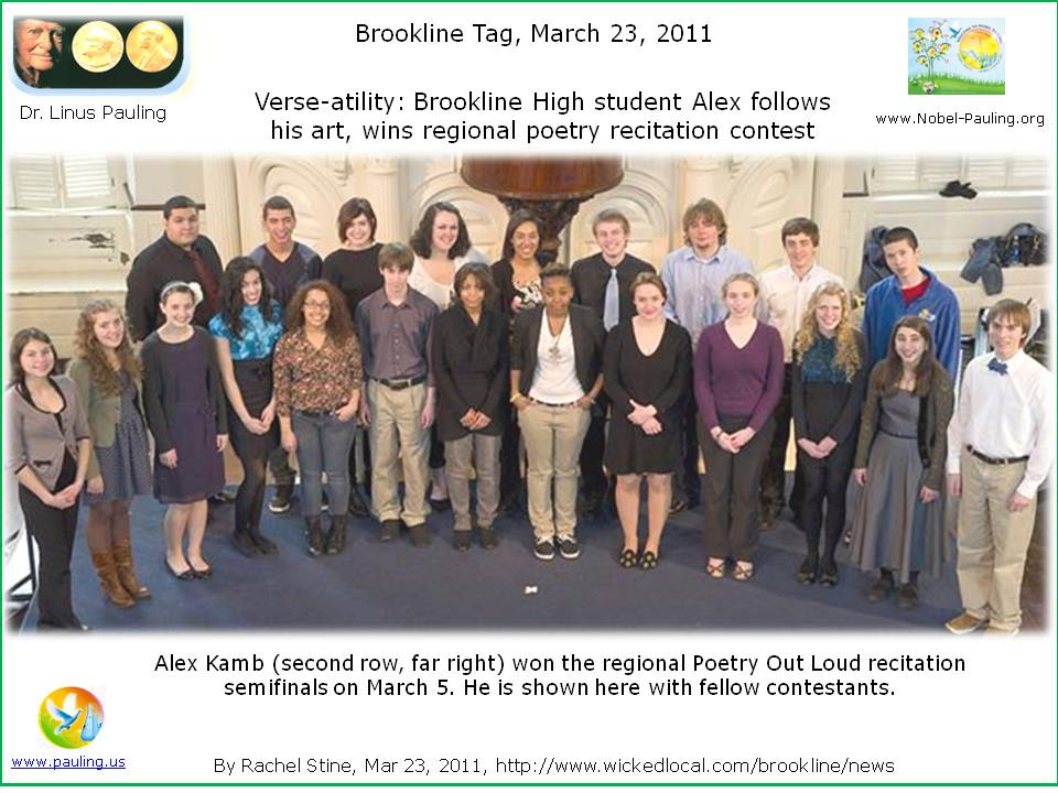 Verse-atility: Brookline High student follows his art, wins regional poetry recitation contest